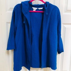 CJ Banks Stretch Blue ZipUp Jacket